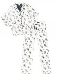 "PJ Salvage Ivory ""Playful Queen Bee"" Classic Pajama Set"
