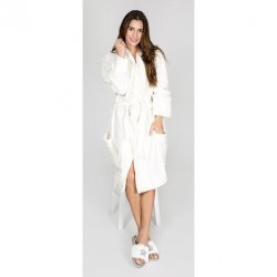 PJ Salvage Luxe Plush Robe in Natural