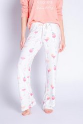PJ Salvage Sunset Spritzer Peachy Jersey Pajama Pant in Ivory