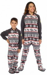 """Cozy Cottage"" Kids Fleece Footy Pajama"