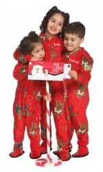 """Gingerbread Jolly"" Kids Fleece Footy Pajama"