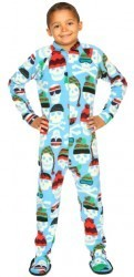 """Skull Caps"" Kids Fleece Footy Pajama"