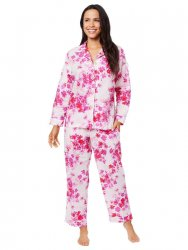The Cat's Pajamas Women's Aster Luxe Pima Classic Pajama Set
