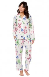 The Cat's Pajamas Women's Deerly Luxe Pima Classic Pajama Set