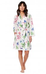 The Cat's Pajamas Women's Deerly Luxe Pima Kimono  Robe