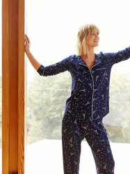 The Cat's Pajamas Women's Étoile Pima Knit Classic Pajama Set