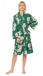 The Cat's Pajamas Women's Georgia Luxe Pima Cotton Robe