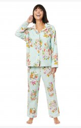 The Cat's Pajamas Women's Harlee Classic Flannel Pajama Set