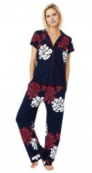 "The Cat's Pajamas Women's ""Isabelle"" Cotton Knit Short Sleeved Pajama Set"