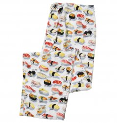 The Cat's Pajamas Men's Sushi Poplin Cotton Pajama Pant in White