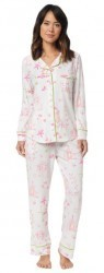 "The Cat's Pajamas Women's ""Pagoda"" Cotton Knit Classic Pajama Set"