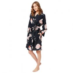 The Cat's Pajamas Women's Penelope Luxe Pima Cotton Kimono Robe