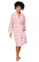 The Cat's Pajamas Women's Pretty in Pink Luxe Pima  Kimono Robe