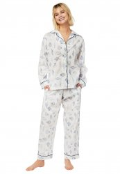 The Cat's Pajamas Women's Sanibel Island Luxe Pima Classic Pajama Set