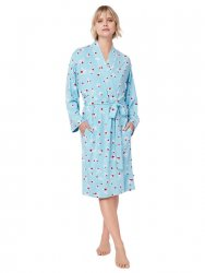 The Cat's Pajamas Women's Skye Pima Knit Kimono Robe