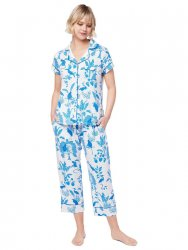 The Cat's Pajamas Women's Tamarindo Pima Knit Capri Pajama Set