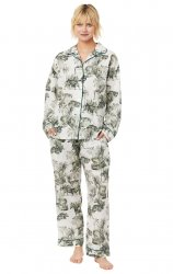 The Cat's Pajamas Women's Tiger Toile Classic Luxe Pima Pajama Set