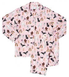 "The Cat's Pajamas Women's ""Pink Treat Time"" Classic Flannel Pajama Set"
