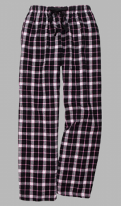 Boxercraft Black and Pink Flannel Pajama Pant