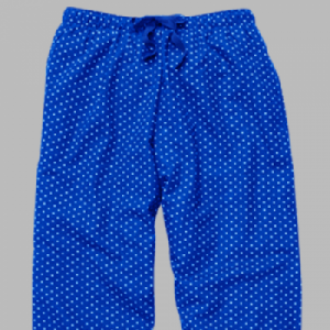 Boxercraft Royal and White Swiss Dot Flannel Pajama Pant