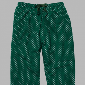 Boxercraft Green and White Swiss Dot Flannel Pajama Pant