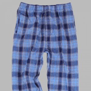 Boxercraft Men's Columbia Blue and Navy Flannel Pant
