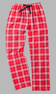 Boxercraft Red and White Plaid Unisex Flannel Pajama Pant