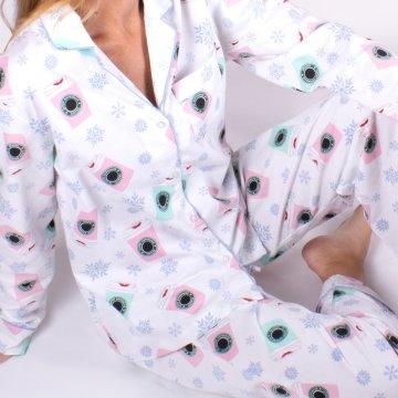 8 Oak Lane Holiday Coffee Cotton Classic Pajama Set