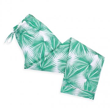 8 Oak Lane Women's Palm Fans Cotton Lounge Pant