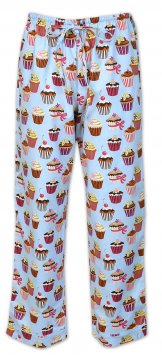 The Cat's Pajamas Women's Cupcakes Flannel Pajama Pant in Blue