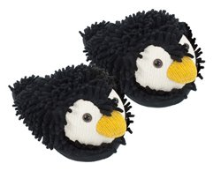 Fuzzy Friends Penguins Slippers from Aroma Home