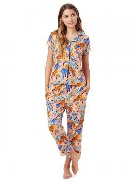 The Cat's Pajamas Women's Tigress Pima Knit Capri Pajama Set