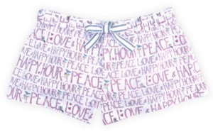 Be As You Are Peace, Love & Happy Hour Women's Boxer in White