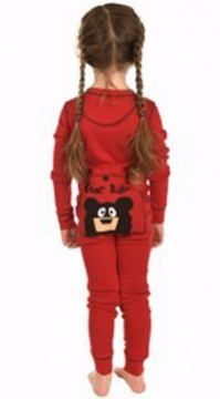 Lazy One Kids Unisex Red Bear Bum FlapJack