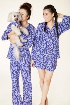 "Bedhead Women's ""Blue Eiffel"" Classic Stretch Pajama Set"