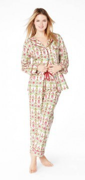 """Bedhead Women's """"Christmas Party"""" Classic Flannel Pajama Set"""