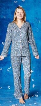 "Bedhead Women's ""Indigo Boho Paisley"" Classic Stretch Pajama Set"