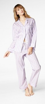 Bedhead Women's Lavender Gingham Classic Cotton Pajama Set