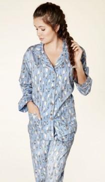 "Bedhead Women's ""Periwinkle Spooning"" Classic Sateen Pajama Set"