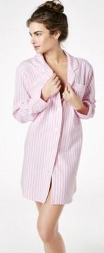 """Bedhead Women's """"Pink 3D"""" Stripe Flannel Nightshirt"""