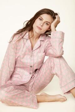 "Bedhead Women's ""Pink Basket Weave"" Classic Sateen Pajama Set"