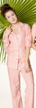 "Bedhead Women's ""Pink Snake Charmer"" Classic Stretch Pajama Set"