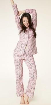 "Bedhead Women's ""Pink Spooning"" Classic Stretch Pajama Set"