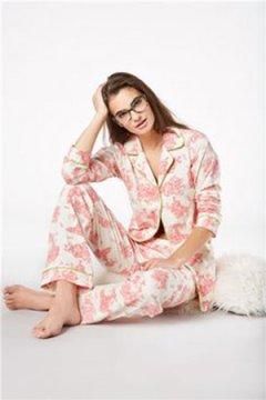 Bedhead Women's Pink Vintage Toile Classic Stretch Pajama Set