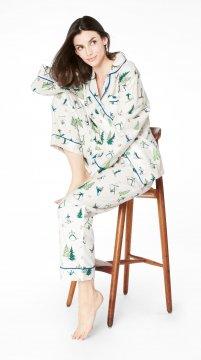 Bedhead Women's Ski Bunnies Classic Flannel Pajama Set