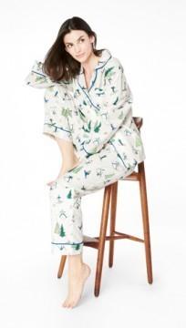 "Bedhead Women's Green ""Ski Bunnies"" Classic Flannel Pajama Set"