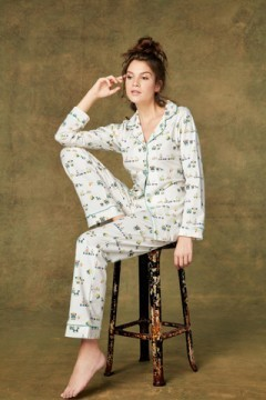 "Bedhead Women's ""Vintage Toy Box"" Classic Stretch Pajama Set"