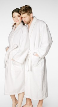 Bedhead Men's Classic White Terry Velour Robe