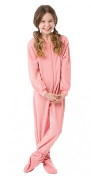 Big Feet Pajamas Kids Pink Fleece One Piece Footy