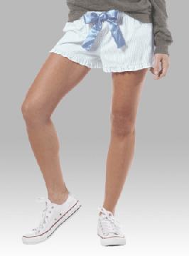 Boxercraft Women's Set Sail Blue Seersucker VIP Boxer Shorts